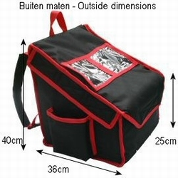 Backpack to fit 4xm  35cm-pizzas heated version. HEATED
