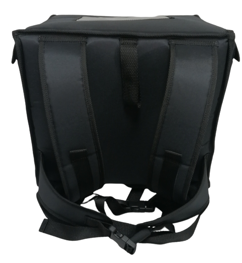 Luxus Backpack to fit 4-6 35cm-pizzas nylon, all black